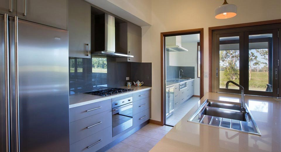 Fully equipped modern kitchen and spacious living area